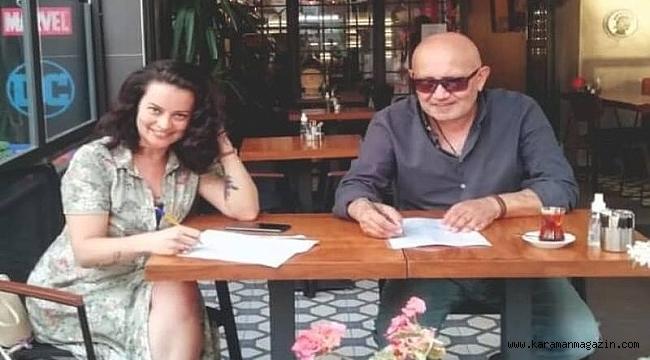 """Ünlü Ressam Kani Kaya İle Güzel oyuncu Aycin Tuyun Bir """"İlk'e İmza Attılar!"""
