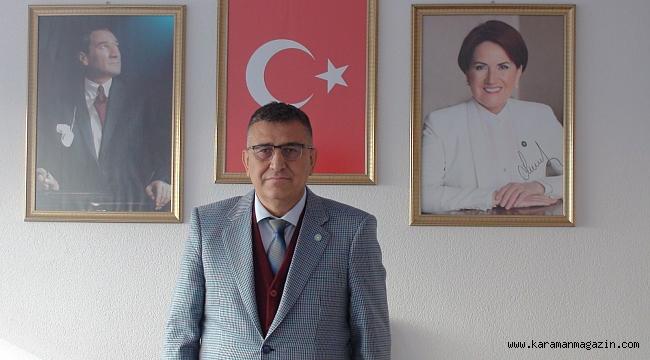 İYİ Parti Karaman İl Başkanı İsmet Hatipoğlu'nun Çalışan Gazeteciler Günü Mesajı.